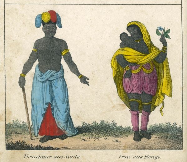 Right - woman from the Congo : left - man from West Africa