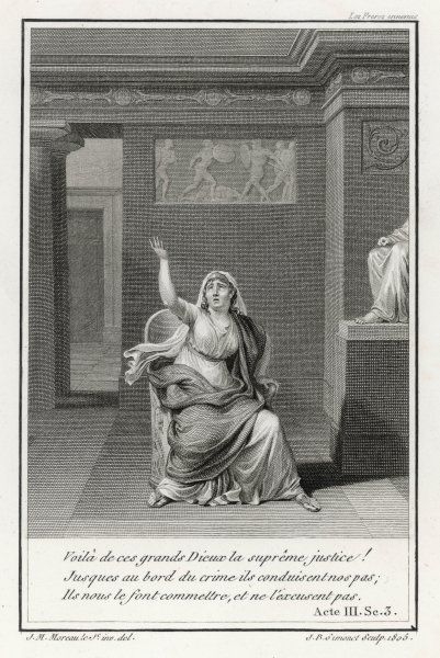 'LA THEBAIDE' or 'Les Freres ennemis' (Racine's first play) Jocasta rails against the gods