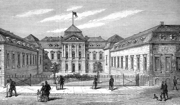 Engraving of the Radziwill Palace, Berlin; the place used for the Berlin Congress of 1878. Here, British, Russian and Turkish leaders met to discuss their conflicting interests in the Turkish region