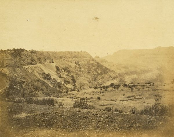 Railway along the scarp of the Great Khandalla Ravine; Tunnels nos 24 and 25; at 12 1/4 miles Date: 1856