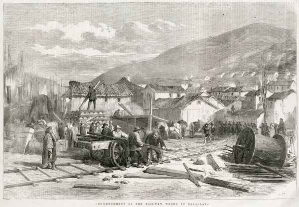 British navvies commence work on the construction of a railway line between Balaclava and Sebastopol in the Crimea