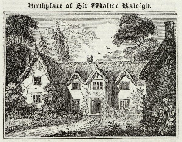 WALTER RALEIGH Birthplace at Hayes, East Budleigh, near Exmouth, of the English courtier, navigator, historian and poet