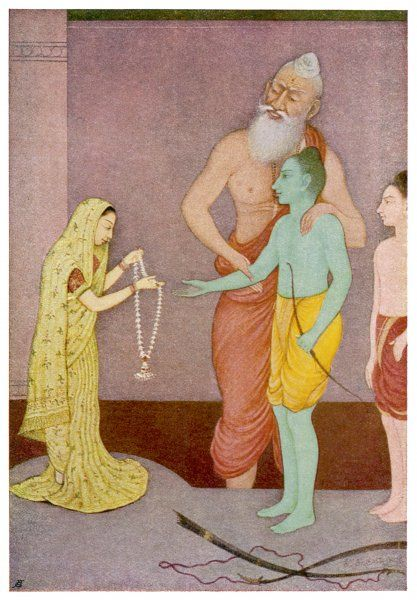 After many adventures and misadventures, RAMA, the 7th avatar of Vishnu, is finally wedded to his one true love, SITA, and all ends happily ever after