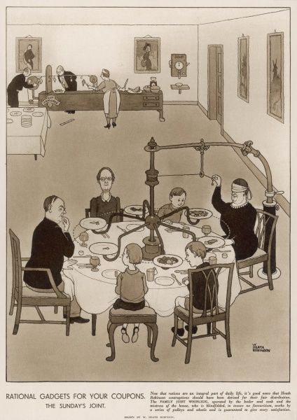 Part of a series of humorous illustrations he produced for the Sketch during World War II