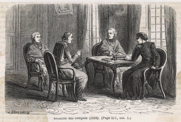 Reactionary bishops meet to discuss their course of action in the light of growing popular opposition to the Bourbon monarchy