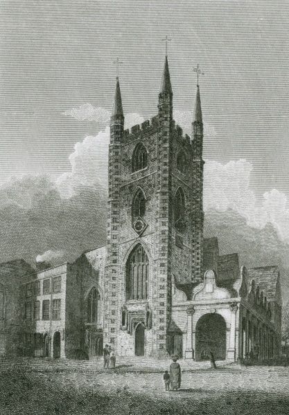 The church of St Lawrence at Reading, Berkshire Date: 1804