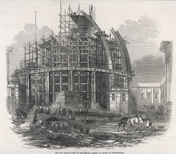 The construction of the Reading Room at the British Museum