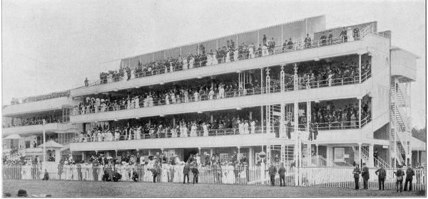 The recently built stands at Ascot