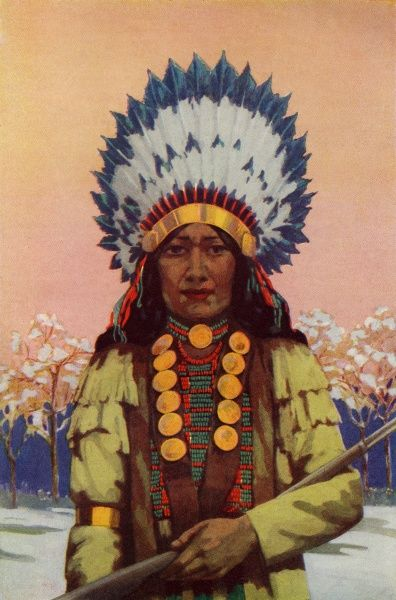 Red indian chief Date: circa 1920