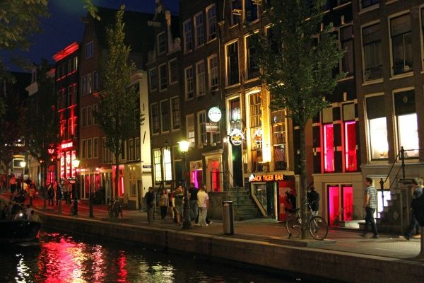 Red light district, Amsterdam, Holland circa 2008