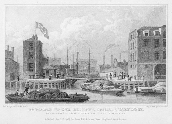 Regent's Canal (Grand Union), entrance at Limehouse