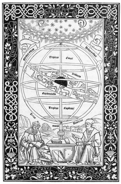 Johann Muller, known as Regiomontanus, expounds the system of Ptolemaius