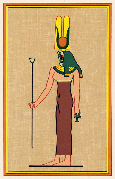 Cobra-headed goddess, guardian of the Pharaoh and an embodiment of divine motherhood (also known as RENNUT)
