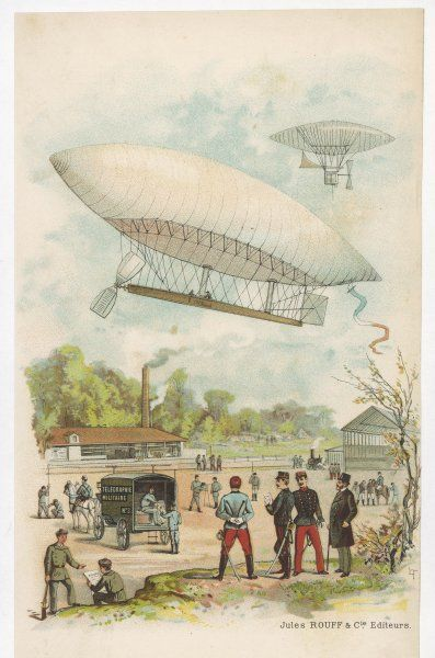 The 'La France' military airship, designed by Renard and Krebs