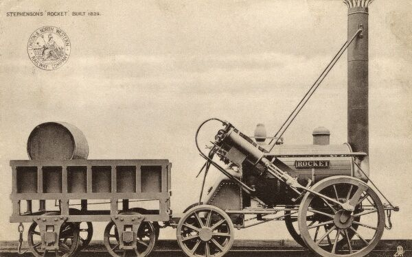George Stephenson's Rocket Locomotive, built in 1829