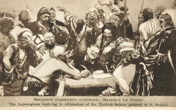 Cossacks Writing Letter To Sultan