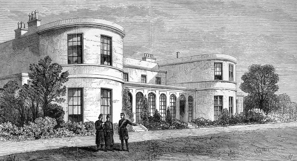 Engraving showing the official residence of the Chief Secretary of Ireland in Phoenix Park, Dublin. In May 1882 the serving Chief Secretary, Lord Frederick Cavendish, was assassinated in Phoenix Park