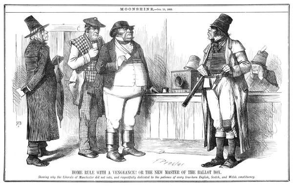 THE IRISH MENACE John Bull and his Scottish and Welsh friends refuse to be coerced by terrorism from the Irish