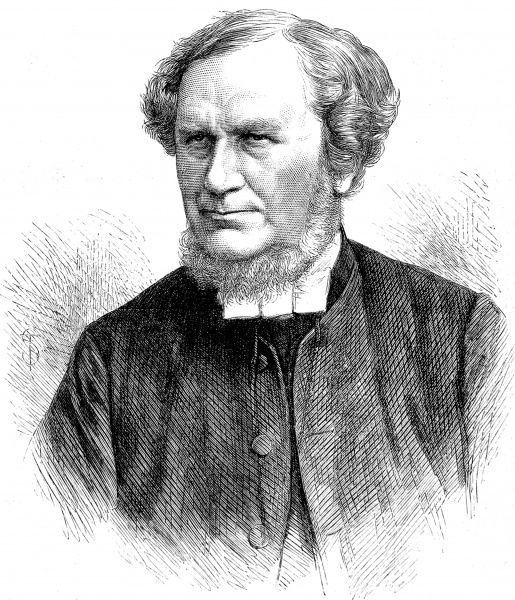 Engraved portrait of the Right Rev. Dr. Henry Mackenzie (1808-1892), then Suffragan Bishop of Nottingham, pictured in 1870