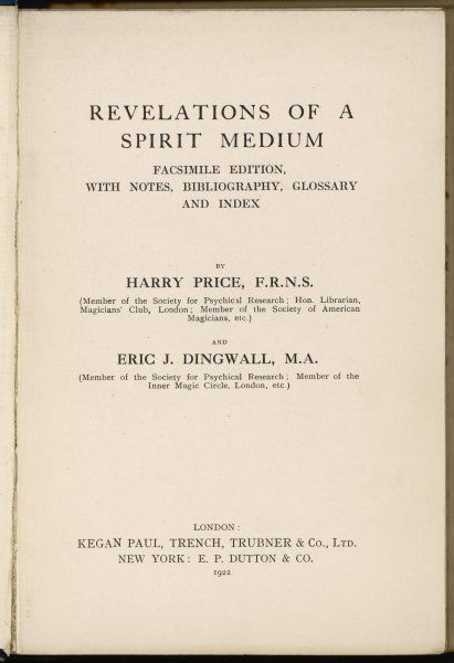 Revelations of a Spirit Medium Title page
