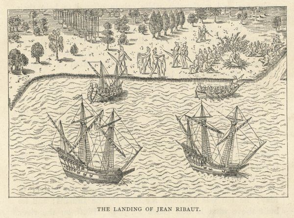 The landing of Jean Ribaut in South Carolina