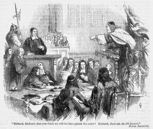 RICHARD BAXTER English puritan clergyman and writer, depicted at his trial before the infamous Judge Jeffreys