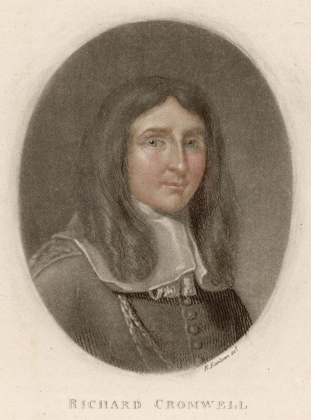 RICHARD CROMWELL son of Oliver Cromwell, and briefly Lord Protector after his father's death