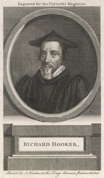 RICHARD HOOKER English churchman, rector of Bishopsbourne, Kent, author of 'Ecclesiastical Polity&#39