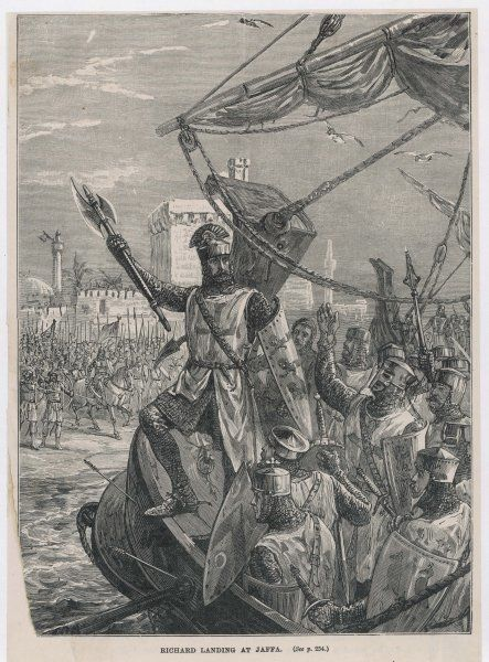 THIRD CRUSADE - Richard I, after taking Acre, advances to Jaffa where he defeats Saladin and takes the city