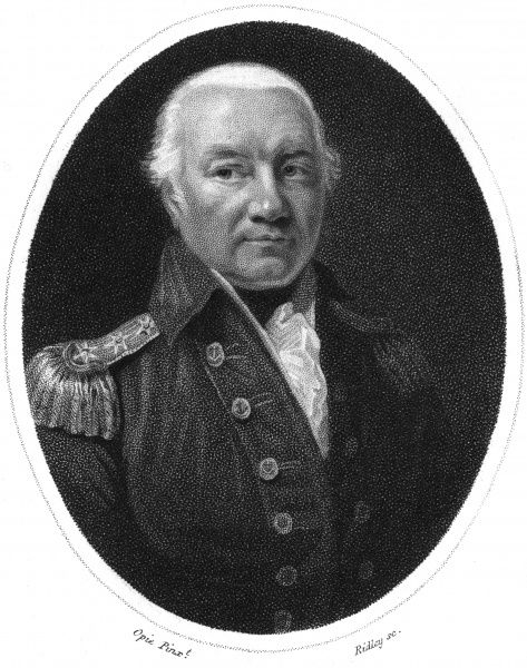 Sir RICHARD RODNEY BLIGH Naval commander during the Napoleonic Wars, Admiral of the Blue Squadron. Date: 1737 - 1821