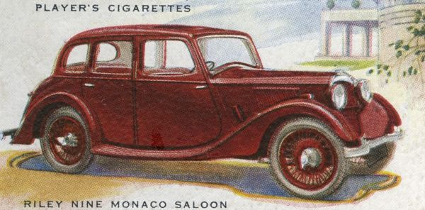 The Riley Nine Monaco is a handsome family saloon priced under three hundred pounds. Date: 1937