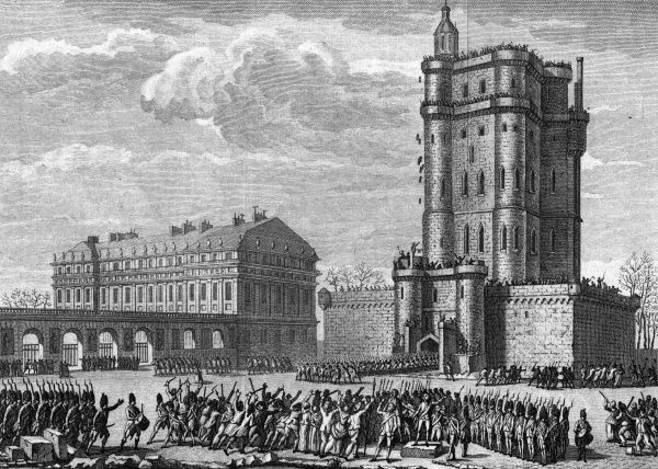 An attack on the royal chateau of Vincennes, south-east of Paris, could have led to another Bastille event but for the intervention of Lafayette and his guards. Date: 18 February 1791