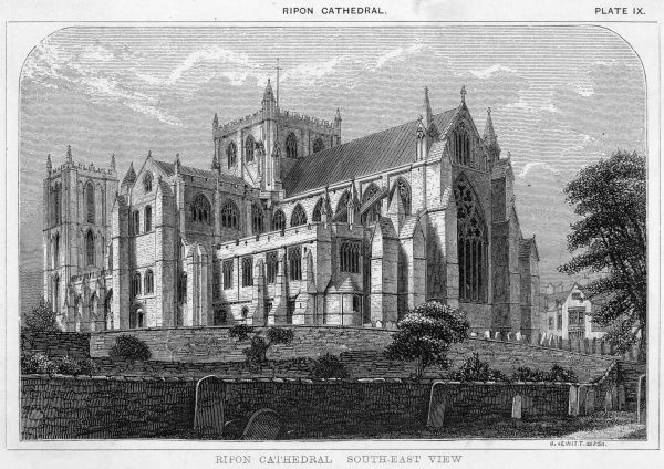 South east view of Ripon Cathedral, Yorkshire