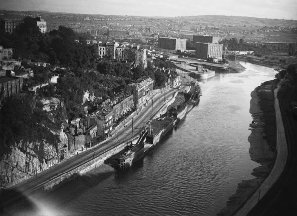 A fine overview of the River Avon and the city of Bristol, England, photographed from Brunel's famous Clifton Suspension Bridge