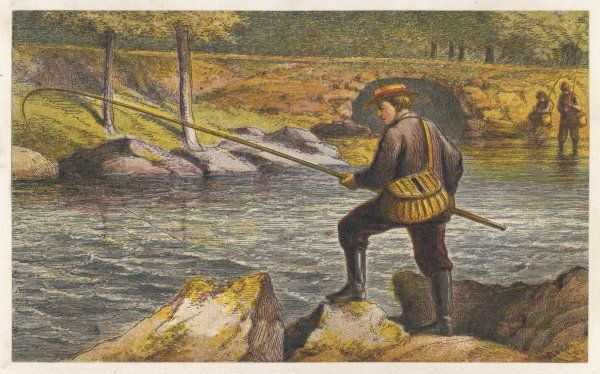 Fishing from the riverbank