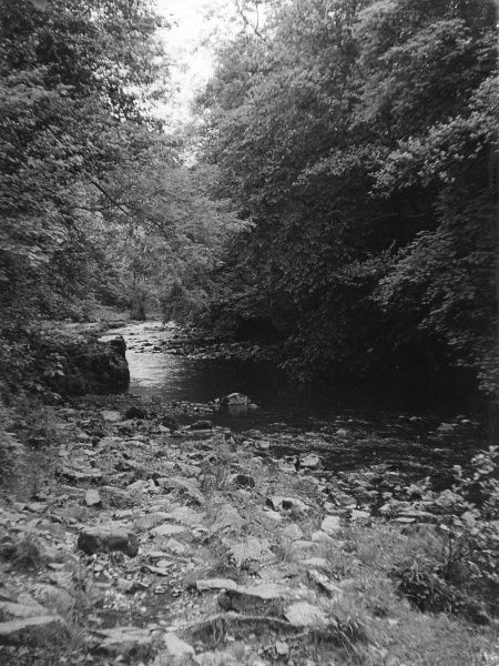 The River Neath, Glamorgan, Wales. Date: 1950s