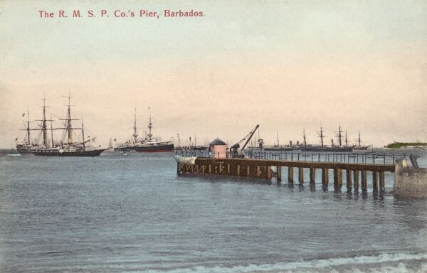 The Royal Mail Steam Packet Company's Pier, Bridgetown, Barbados Date: circa 1910s