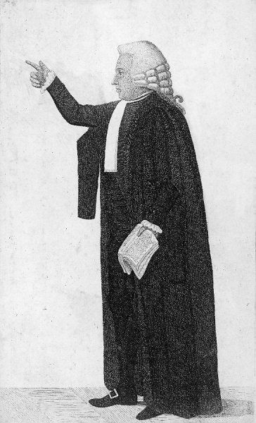 ROBERT BLAIR Edinburgh advocate, depicted making a point in court