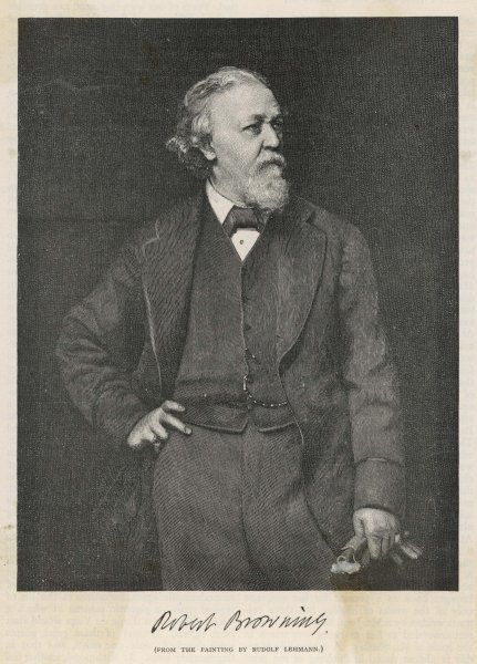 ROBERT BROWNING the English poet in later life