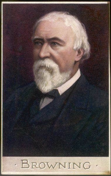 ROBERT BROWNING Colour portrait