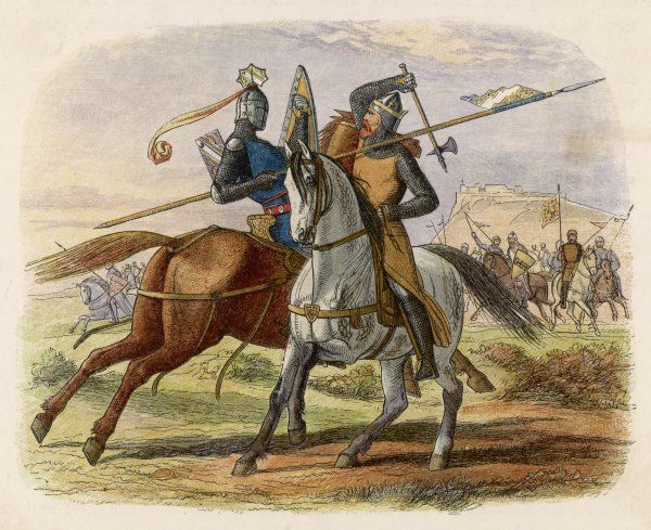 Before the battle, King Robert de Bruce VIII kills Sir Henry de Bohun in single combat