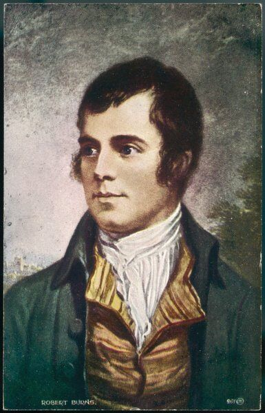 ROBERT BURNS Scottish national poet Portrait
