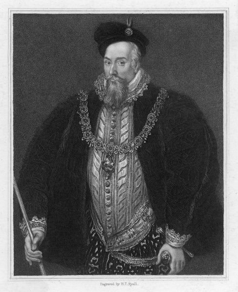 ROBERT DUDLEY 1ST EARL OF LEICESTER Fifth son of John Dudley, Duke of Northumberland English courtier