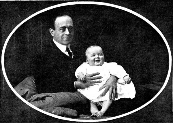 Photograph of Captain Robert Falcon Scott, the English naval commander and explorer, and his son, Peter Markham Scott, taken in late 1909 or early 1910
