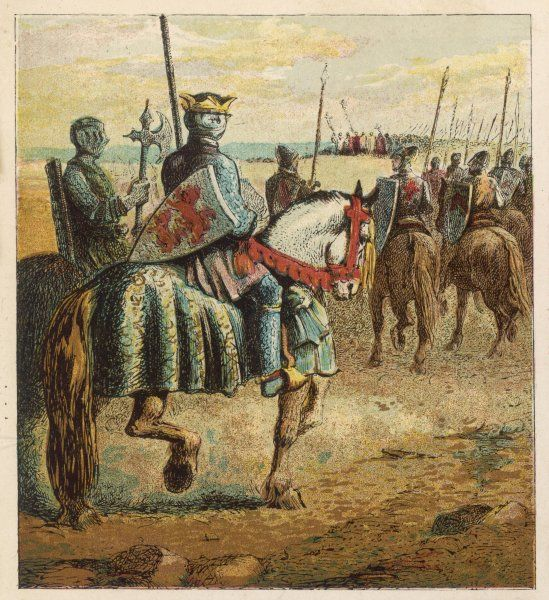 Robert, Duke of Normandy, the eldest son of William I, goes on the First Crusade, thus losing the crown of England first to his brother William II, then William's son Henry I