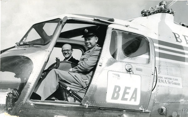 Robert Herbert Whitby In Cockpit Of Bristol Mk 3a Sycamore
