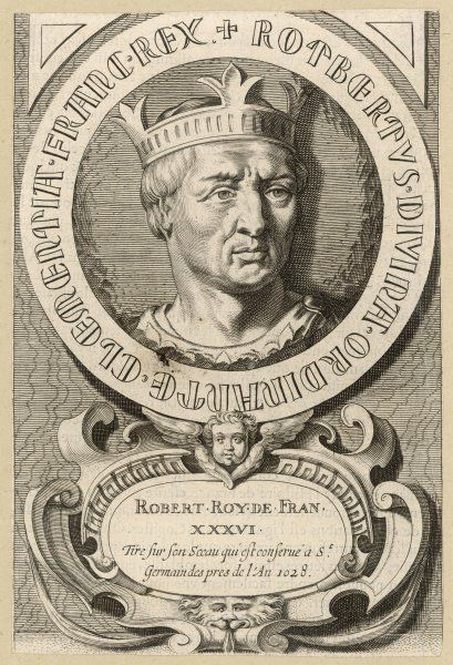 ROBERT II LE PIEUX king of France, son of Hugues Capet