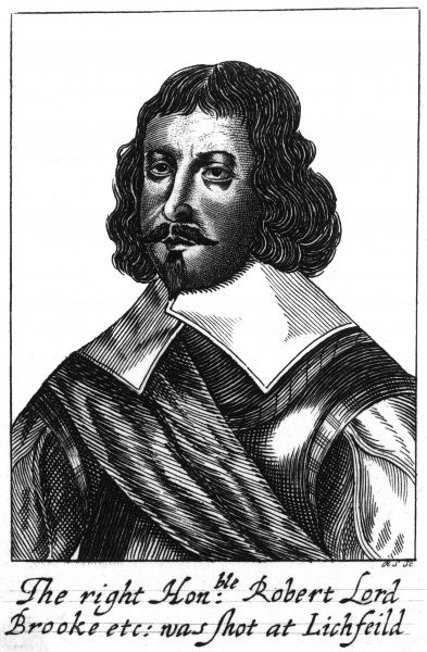 ROBERT GREVILLE, second baron BROOKE Parliamentary general in the Civil War, shot at the battle of Lichfield. Date: 1608 - 1643