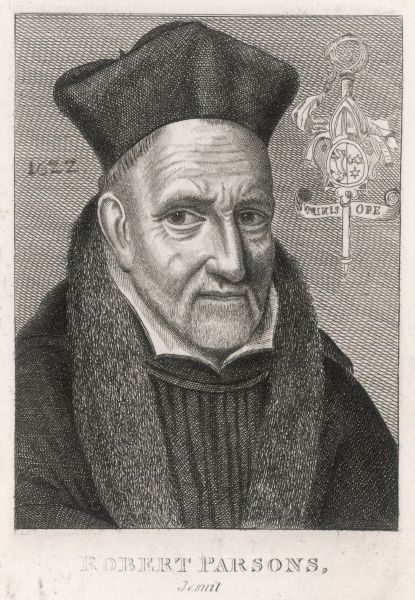 ROBERT PARSONS Jesuit missionary in England, thought to have been the leading conspirator against Elizabeth and the instigator of the Gunpowder Plot