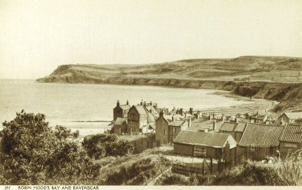 Robin Hood's Bay and Ravenscar, North Yorkshire Date: circa 1930s